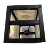 Tropical Flowers Mulberry Paper Wood Frame Table Lantern (Lamp) - TropicaZona