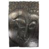 "Carved Acacia Wood (Monkey Pod/Samanea Saman Wood) Buddha Panel, 3-Piece Set - 16"" x 20"" - TropicaZona"