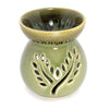 Celadon Ceramic Aroma Oil Burner (Aroma Lamp, Oil Diffuser), Crackled Green - TropicaZona