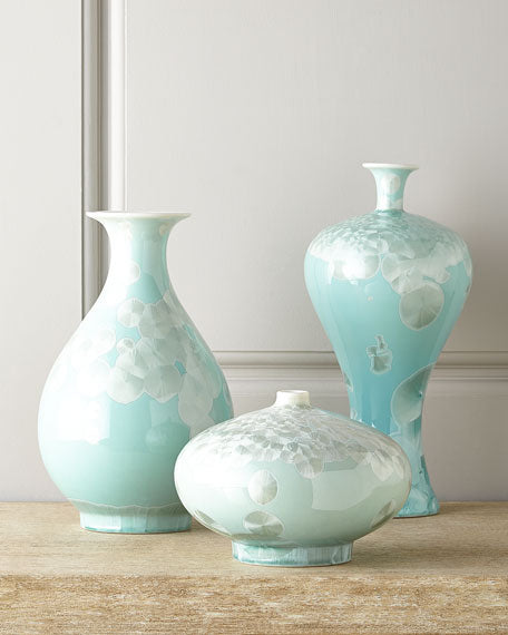 Three Swirling Leaves Aqua Vases - TropicaZona