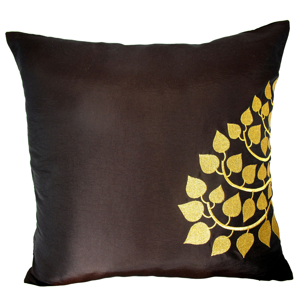 Thai Silk Throw Pillow Cover Lotus Design Red TropicaZona