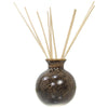 Ceramic Aroma Oil Diffuser Vase, Glazed Finish & 10 Diffuser Rattan Reed Sticks, 10 inches long (each) - TropicaZona