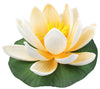 "Small Floating Foam Water Lily Flower, For Small Water Feature, Approx. 3.25"" x 3.5"" x 2"", Beige - TropicaZona"