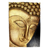 "Carved Acacia Wood (Monkey Pod/Samanea Saman Wood) Buddha Panel, 3-Piece Set - 16"" x 24"" - TropicaZona"