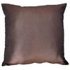 Thai Silk Throw Pillow Cover, Lotus Design, Taupe - TropicaZona