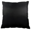 Thai Silk Throw Pillow Cover, Lotus Design, Black - TropicaZona
