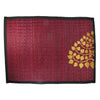 "Woven Reed Placemats, Approx. 12"" x 16"", 4-Pack, Gold Bodhi Tree on Red - TropicaZona"