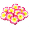 Floating Plumeria (Frangapani) Foam Flowers, 10-Pack, Magenta Pink - TropicaZona