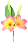 Artificial Plumeria (Frangapani) Foam Flower Corsage, Small Bouquet - TropicaZona