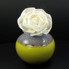 Sola Wood Flower Aroma Oil Diffuser with a Bendable Cotton Wire Wick, Tea Rose - TropicaZona