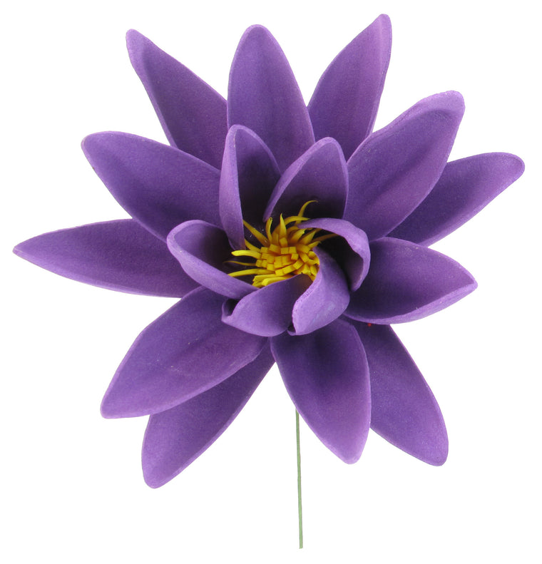 Large Floating Water Lily Foam Flower, Purple - TropicaZona