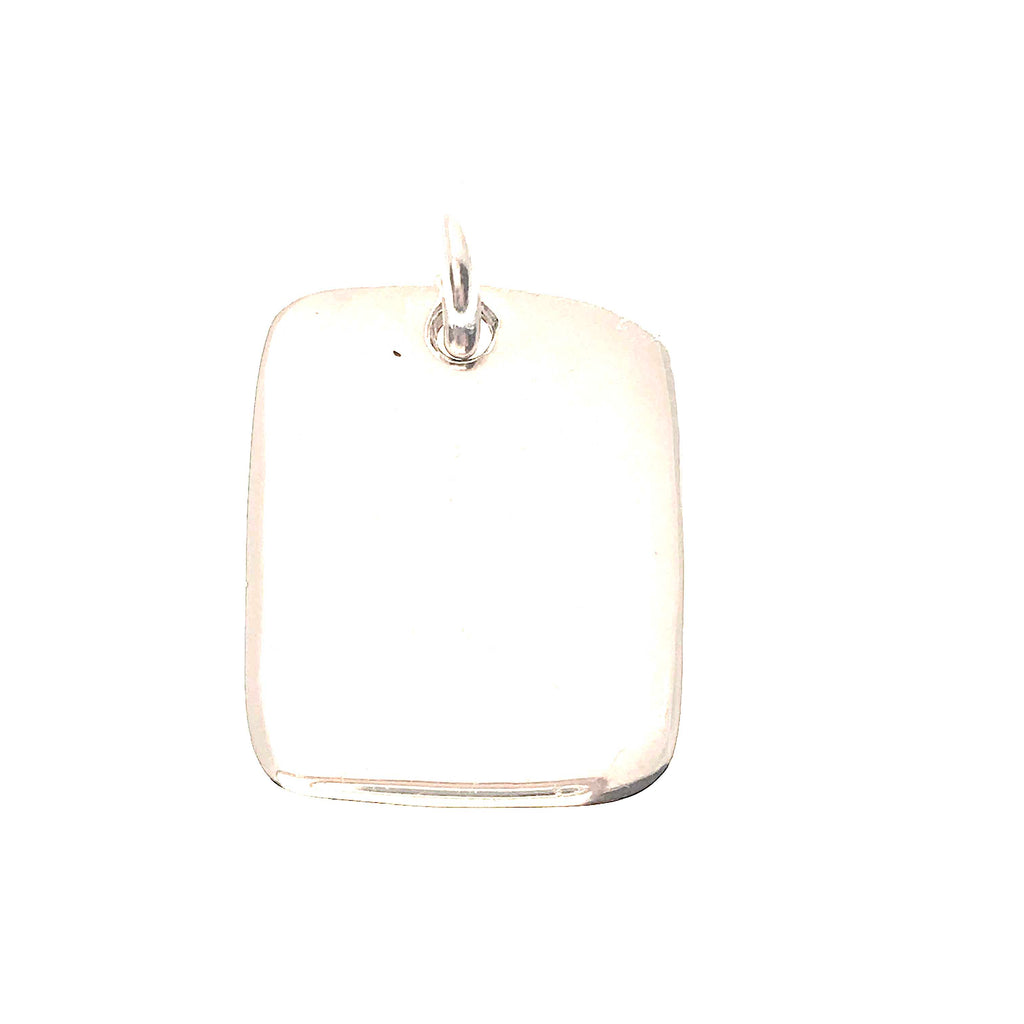 large sterling silver dog tag