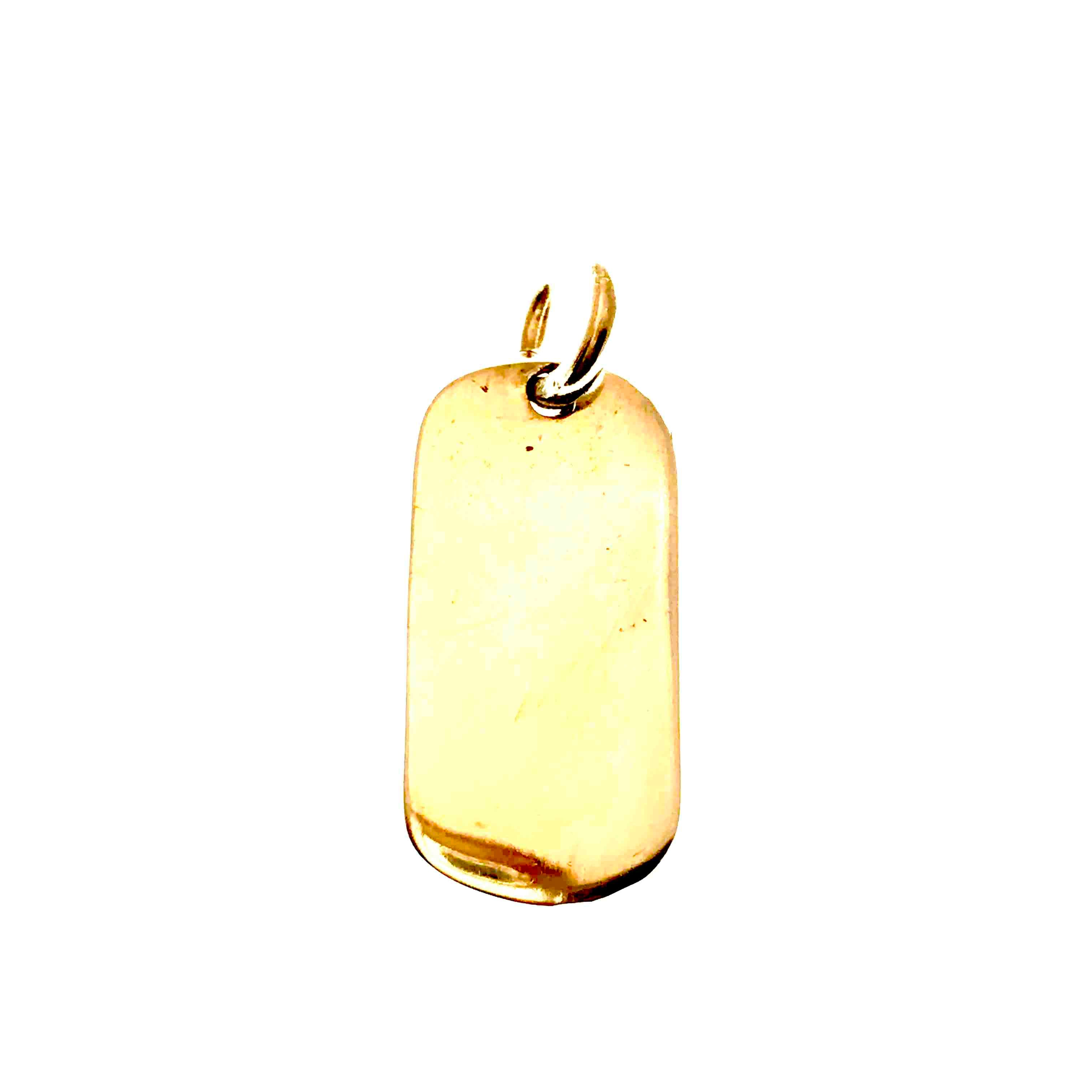 little gold dog tag
