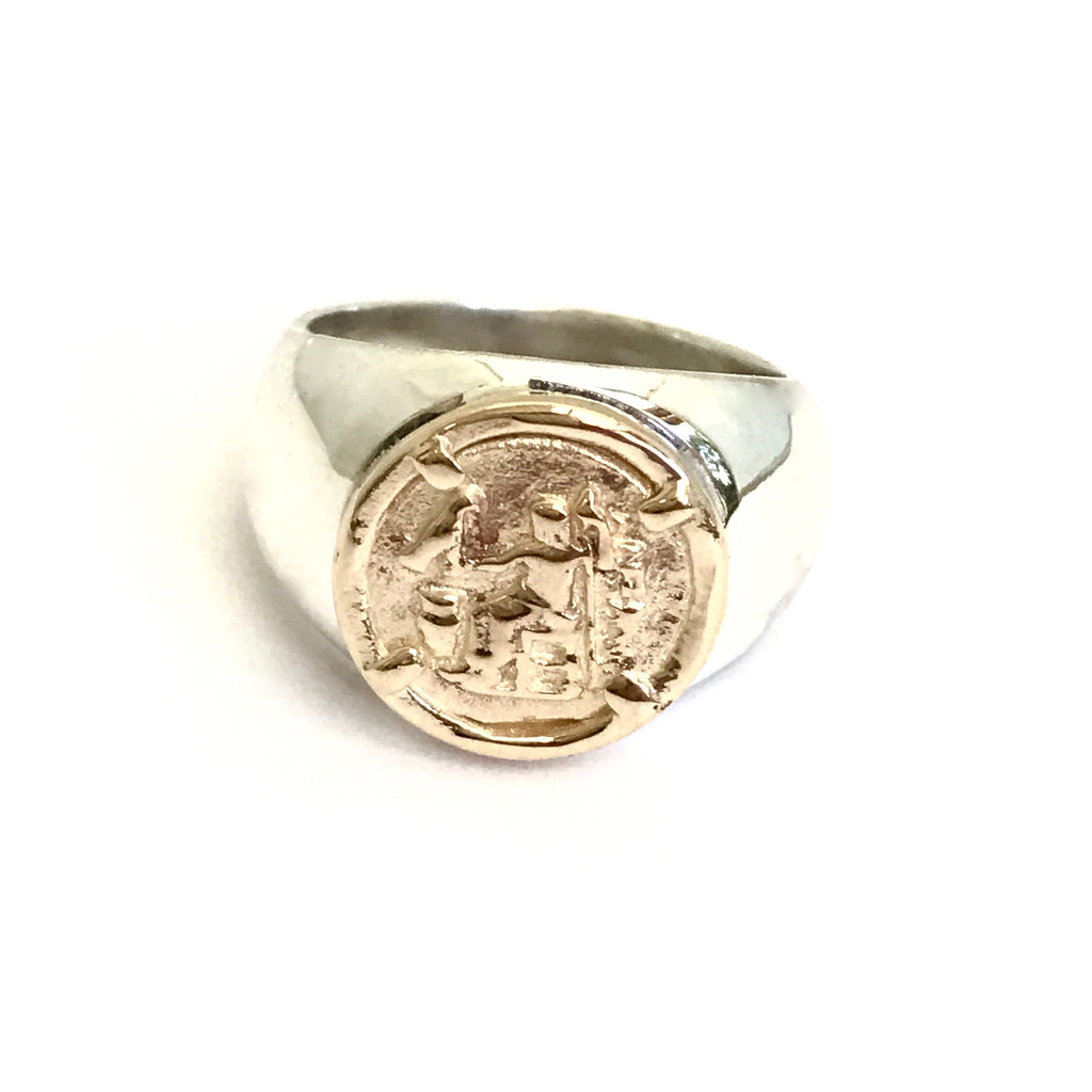 greek coin ring