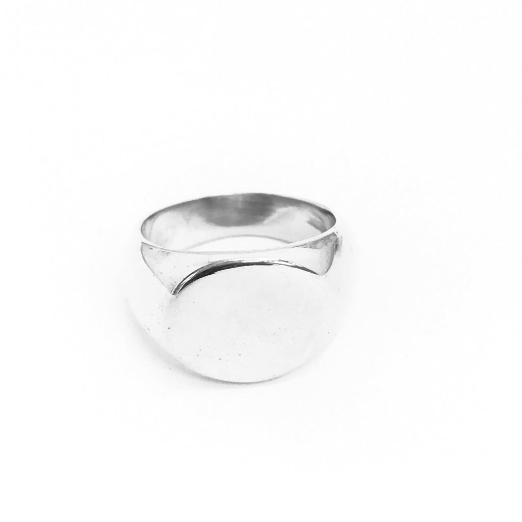 classic sterling signet ring