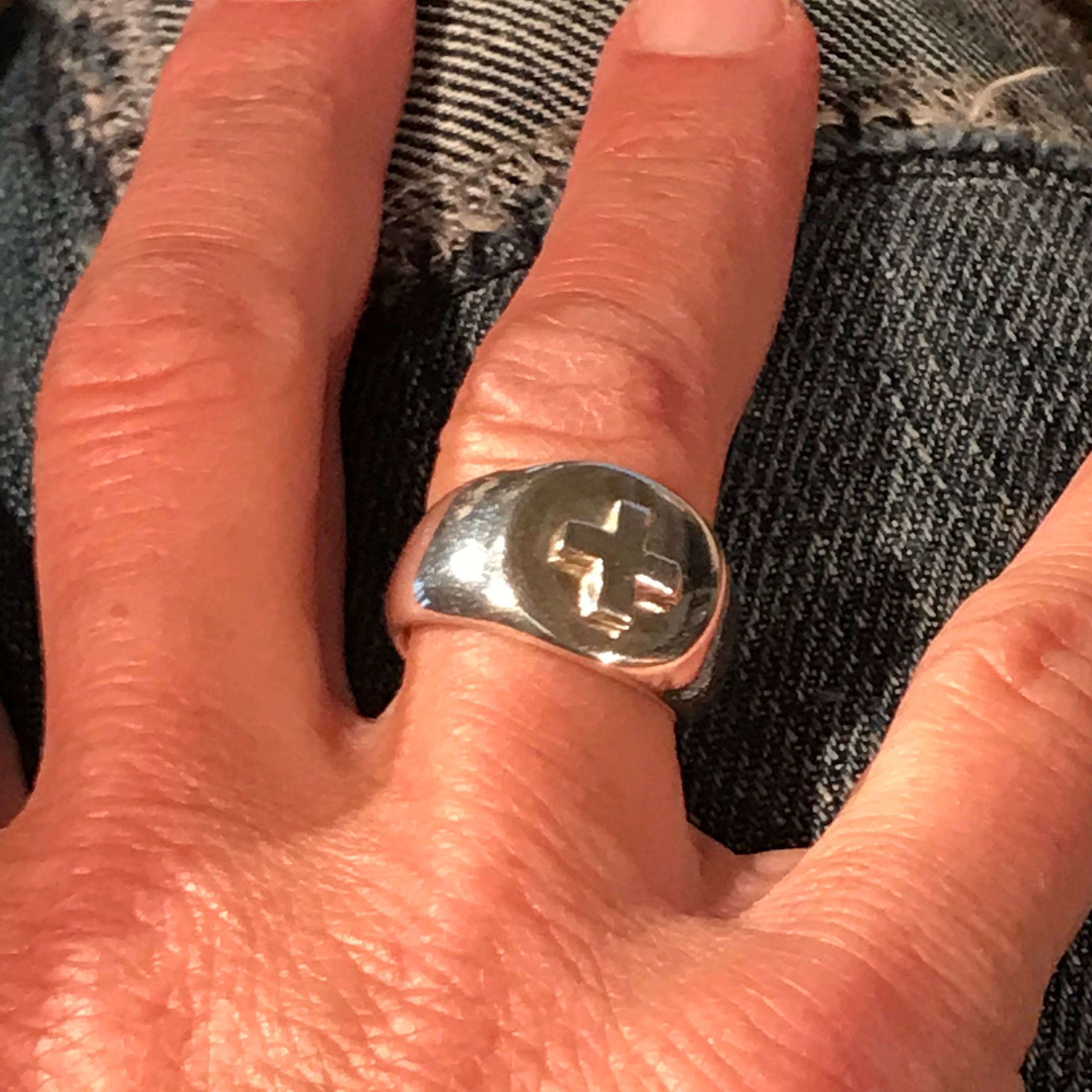silver + signet ring