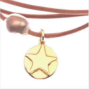 gold star disc and pearl