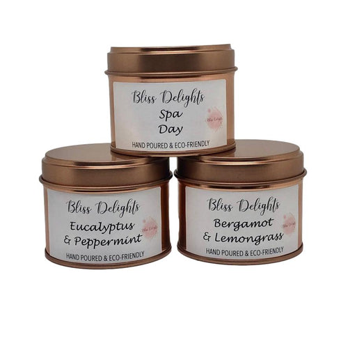 Bliss Delights Essential Oil Candles Set of Three | Eco & Vegan Candle