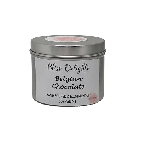 Bliss Delights Belgian Chocolate Scented Candle | Eco Soy Vegan Candle