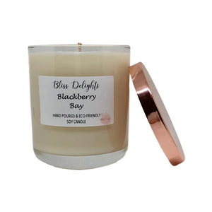 Bliss Delights Blackberry & Bay Soy Candle | Vegan & Eco-Friendly Gift