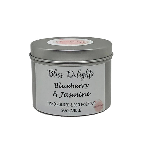 Bliss Delights Blueberry & Jasmine Candle | Eco Soy Vegan Candle
