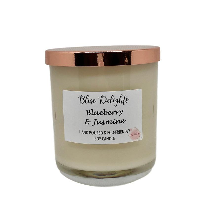 Bliss Delights Blueberry & Jasmine Soy Candle | Vegan & Eco-Friendly