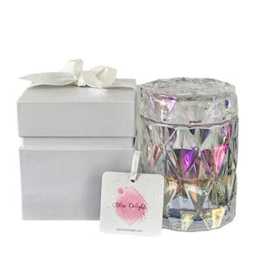 Bliss Delights Large Pearlescent Diamond Candle | Eco-Friendly Gift