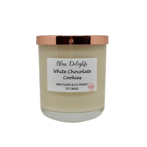 Bliss Delights White Chocolate Cookies Candle | Vegan & Eco-Friendly