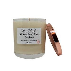 Bliss Delights White Chocolate Cookies Scented Candle | Vegan & Eco-Friendly