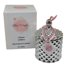 Load image into Gallery viewer, Bliss Delights Silver Diamond Candle | Luxury Scented Soy Candle