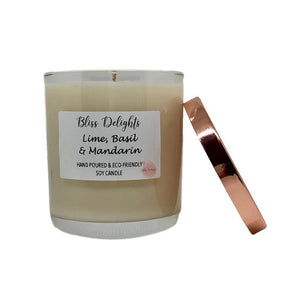 Bliss Delights Lime, Basil & Mandarin Candle | Cruelty-Free & Vegan