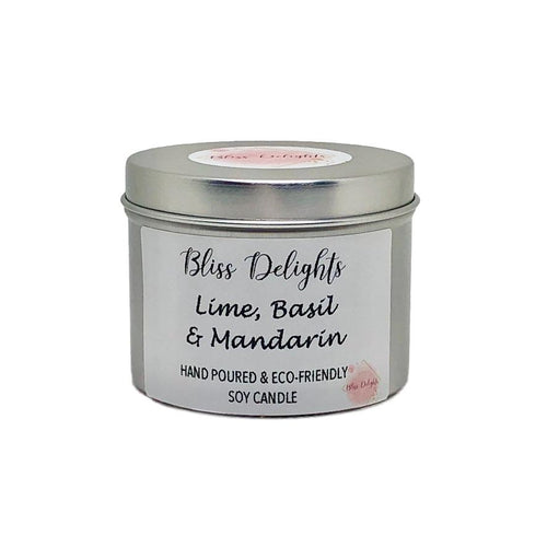 Bliss Delights Lime, Basil & Mandarin Scented Candle