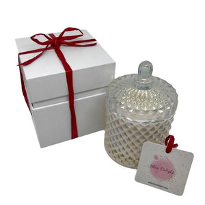 Bliss Delights Pearlescent Diamond Candle | Luxury Eco-Friendly Gift