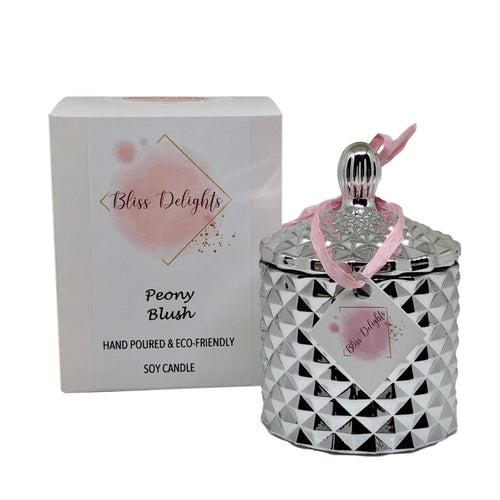 Bliss Delights Silver Diamond Candle | Luxury Scented Soy Candle