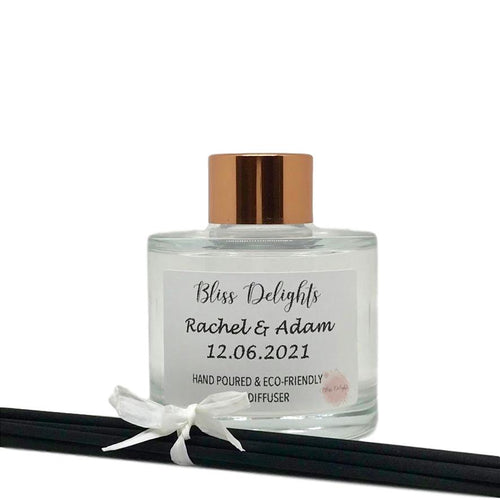 Reed Diffuser Personalised Wedding Gift 100ml - Bliss Delights