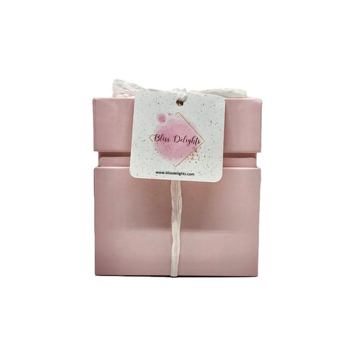 Bliss Delights Pink Candle Gift Box | Eco-Friendly Gifts