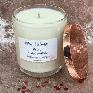 Bliss Delights Pure Unscented Soy Candle Gift | Cruelty-Free & Vegan