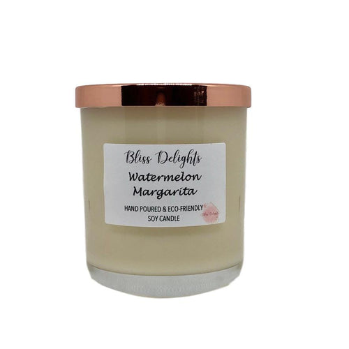 Bliss Delights Watermelon Margarita Soy Candle | Vegan & Eco-Friendly