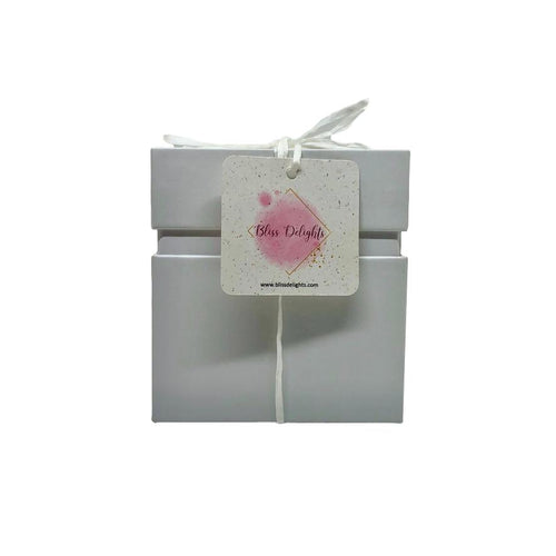 Bliss Delights White Candle Gift Box | Eco-Friendly Gifts