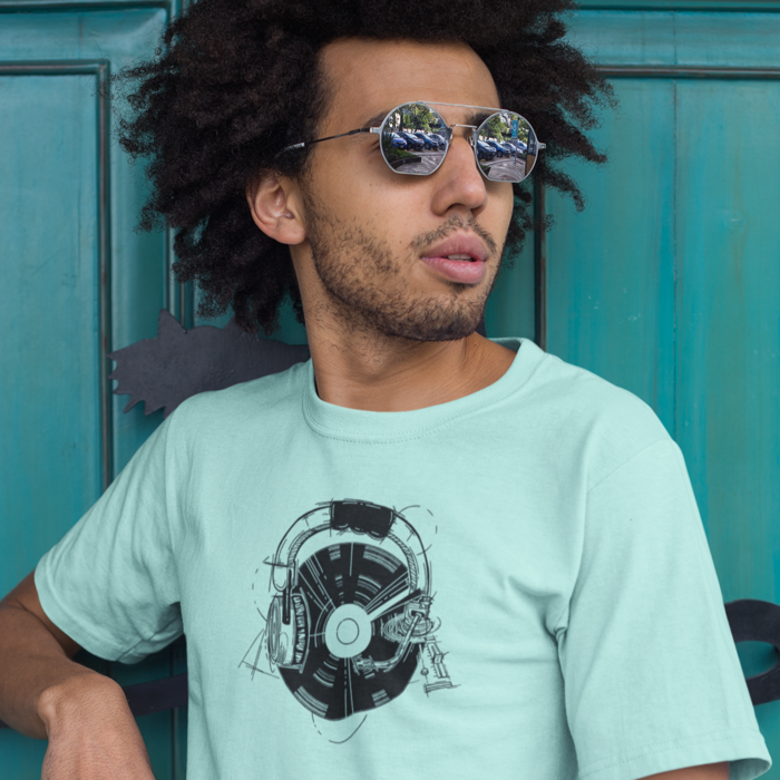 Men's Free Vibes T Shirt - Summer Short Sleeves Top - O Neck Tee
