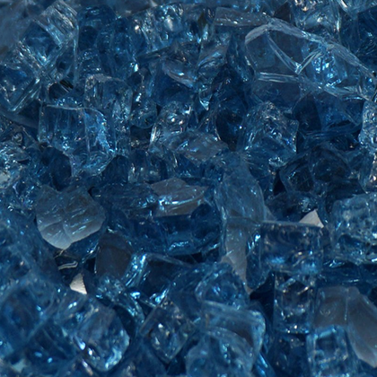 "1/2"" Blue Lagoon Fireglass Crystals - Outdoorlivingsuites"