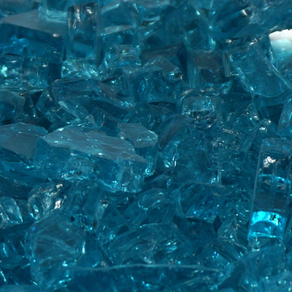 "1/4"" Carribean Blue / Azuria Fireglass Crystals - Outdoorlivingsuites"