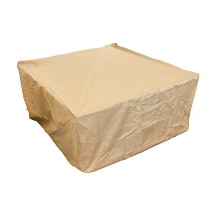 Hiland Heavy Duty Waterproof Cover for Square Wood Burning Fire Pit - Outdoorlivingsuites