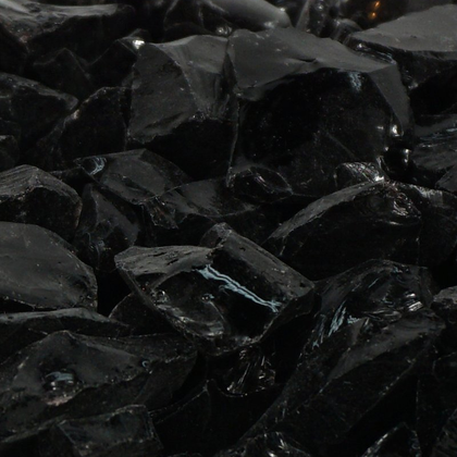 Jet Black Recycled Fireglass - Outdoorlivingsuites