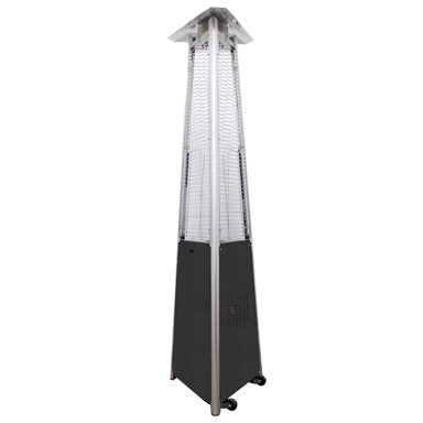 Tall Commercial Triangle Glass Tube Heater-Hammered Silver - Outdoorlivingsuites