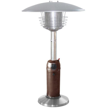 Outdoor Tabletop Patio Heater - Hammered Bronze & Stainless Steel Finish - Outdoorlivingsuites