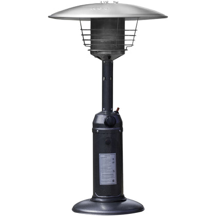 Outdoor Tabletop Patio Heater - Hammered Silver Finish - Outdoorlivingsuites