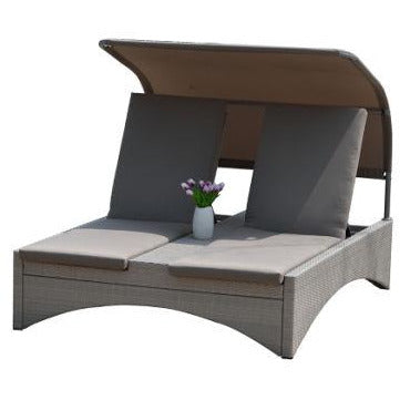 Chaise Lounger Adjustable Daybed with Canopy (CLOSEOUT)
