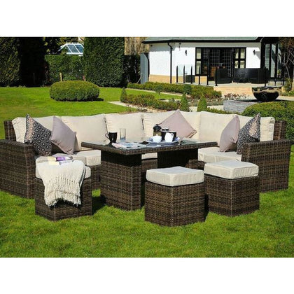 Ivy Deluxe 8-Piece Conversation Seating Group Set with Cushions - Outdoorlivingsuites