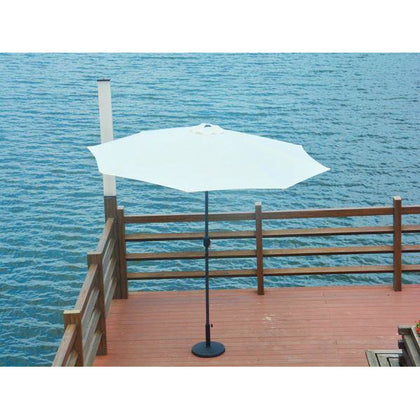Kida 10' Market Umbrella with Tilt & Base (Beige) - Outdoorlivingsuites